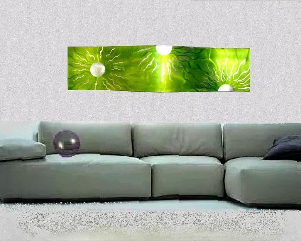 Galassia Verde Ondeggiato 35x150 Cm Antonio Angioni